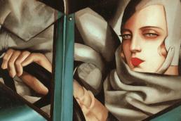 Tamara de Lempicka Autoportrait (Tamara in a Green Bugatti), 1929.