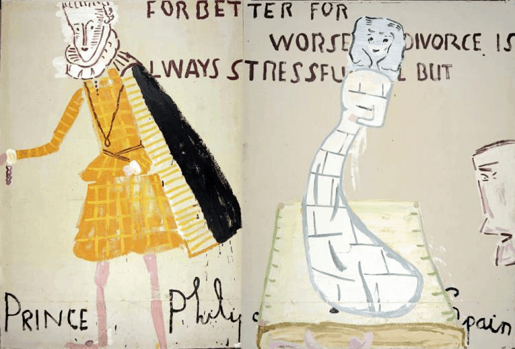 Lords and Ladies (2006) by Rose Wylie