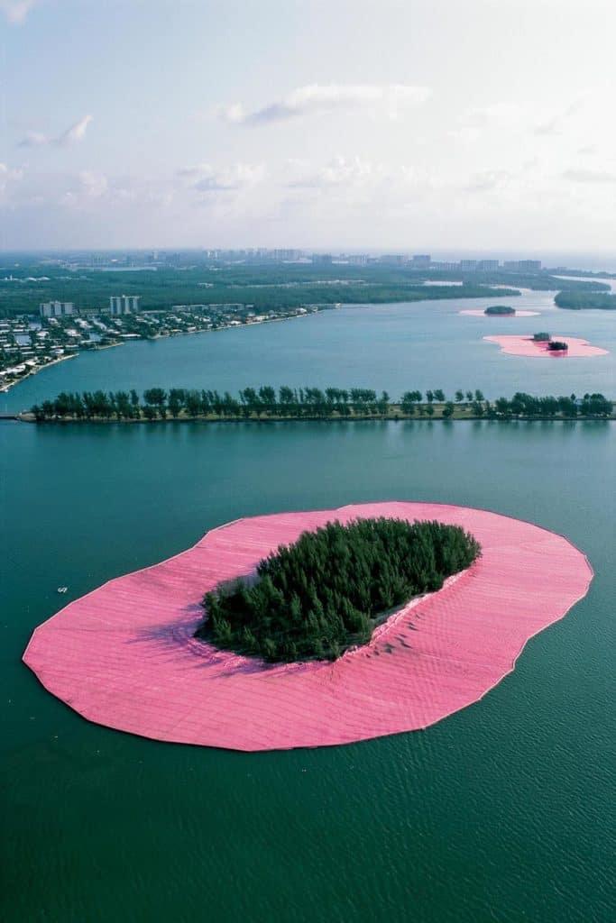 Pink islands, Biscayne Bay, Florida