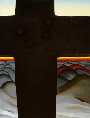 Georgia O'Keeffe, Black Cross, New Mexico, 1929.