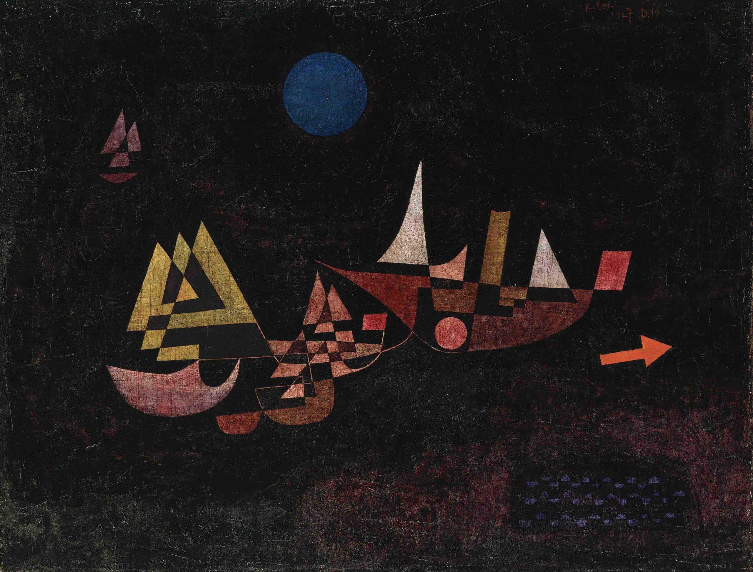 Paul Klee, Abfahrt der Schiffe, 1927.