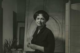 Hedda Sterne in her studio