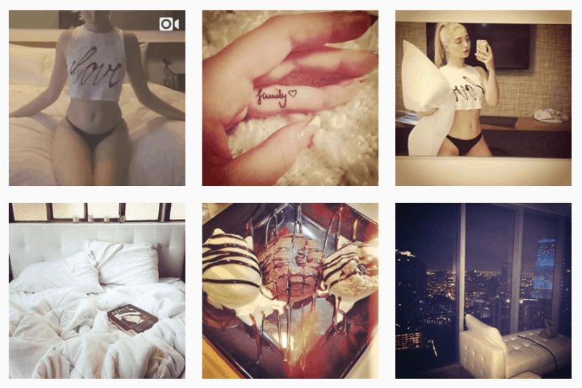 Various instagram updates by Amalia Ulman