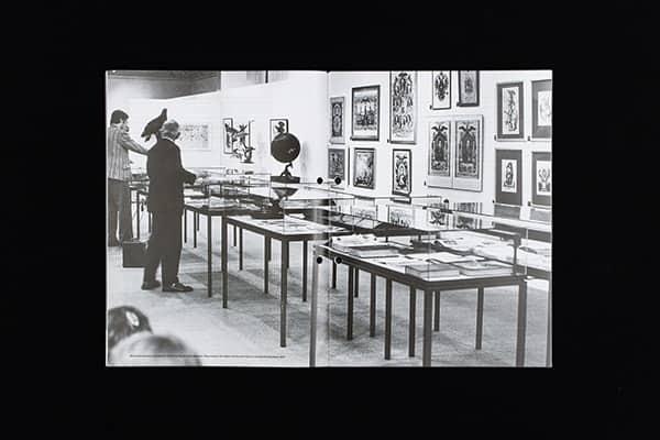 Marcel Broodthaers, installation view of the Musée d'Art Moderne, Département des Aigles, Section des Figures.