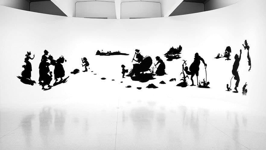 The End of Uncle Tom and the Grand Allegorical Tableau of Eva in Heaven (1995) by Kara Walker.
