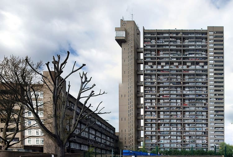 Trellick Tower in London, England