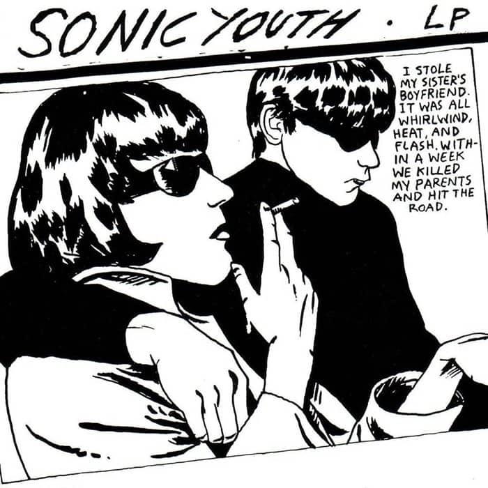 Sonic Youth, Goo designed by Raymond Pettibon, 1990