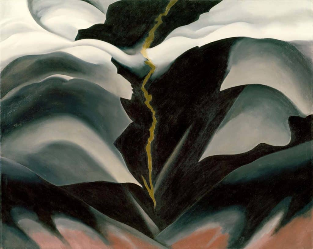 Georgia O'Keeffe, Black Place II, 1944.