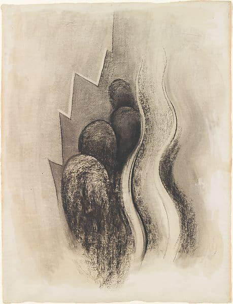 Georgia O'Keeffe, Drawing XIII, c. 1915.