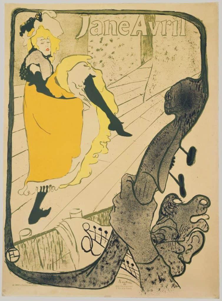 Henri de Toulouse-Lautrec, Jane Avril.