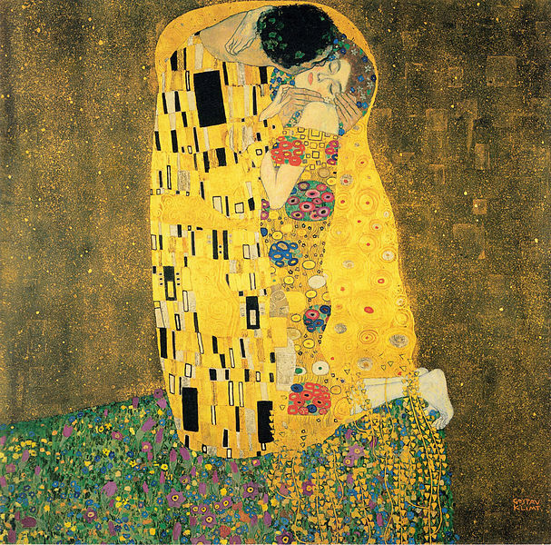 Gustav Klimt, The Kiss, 1907.