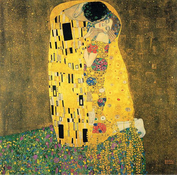 Gustav Klimt, The Kiss, 1907.