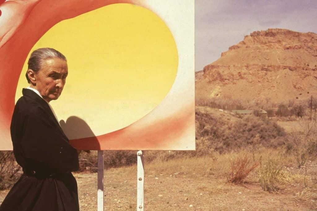 Georgia O'Keeffe in New Mexico.