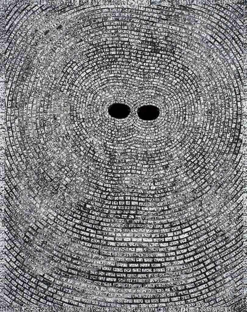 Jack Whitten, Self Portrait: Entrainment, 2008.