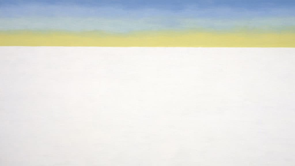Sky Above Clouds/Yellow Horizon and Clouds, 1976-1977.