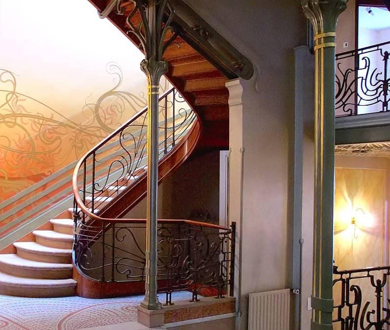 Victor Horta, Stairwell in Hotel Tassel, Brussels. Art Nouveau
