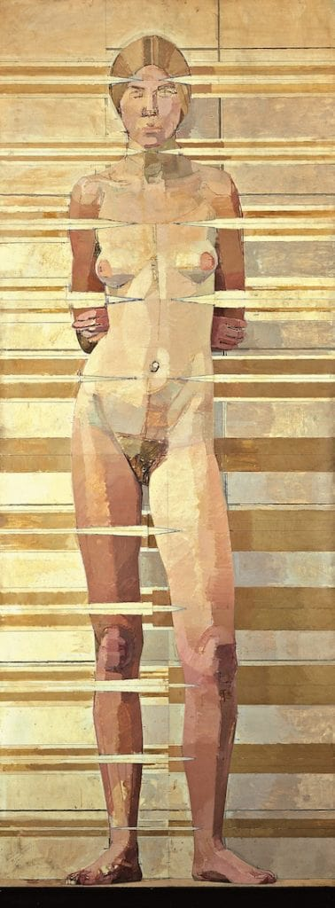 Euan Uglow, Nude from Twelve Regular Vertical Positions from the Eye, 1967, Victoria Gallery Museum University of Liverpool.