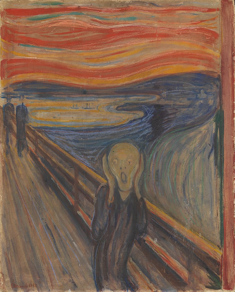Edvard Munch, The Scream, 1983, Norway's National Gallery.