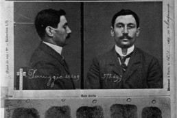 Mug shot of Vincenzo Peruggia, the man who stole the Mona Lisa from the Louvre Museum in Paris