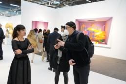 Cautious fair visitors at The Armory Fair, March 2020