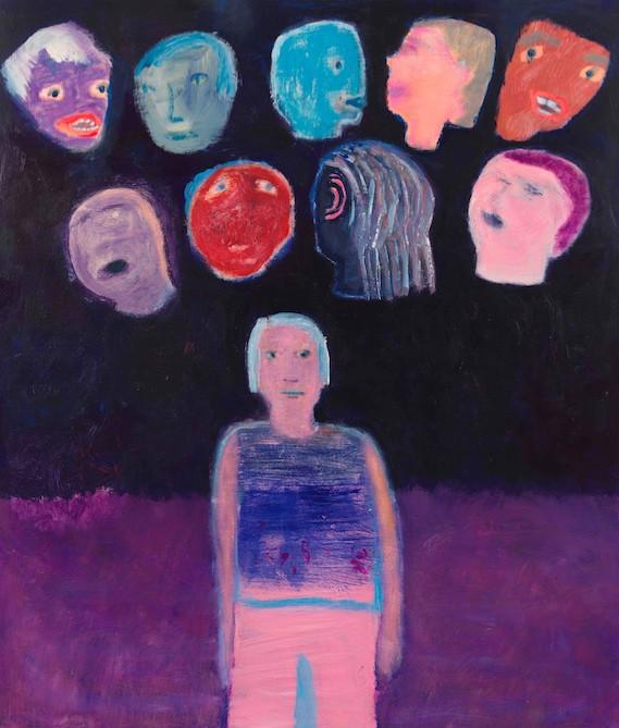 Katherine Bradford, Various Heads, 2019