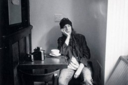 Patti Smith in Café Ino. Photo by Claire Hatfield