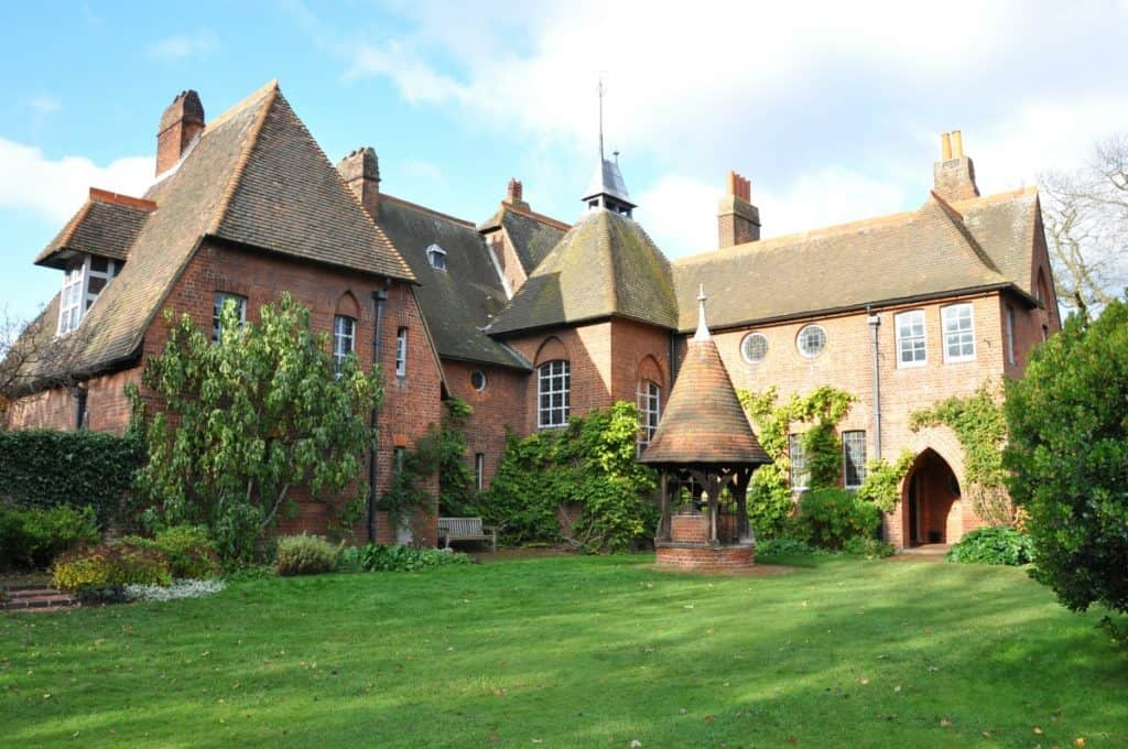 Exterior of William Morris and Philip Webb's Red House.