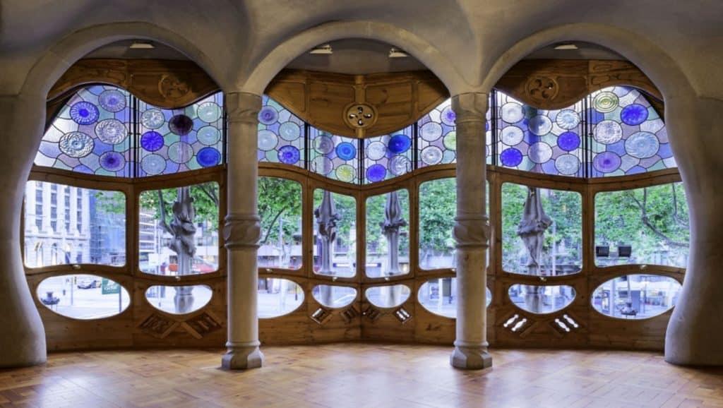 Interior of Gaudi's Casa Batlló, an architectural total work of art.