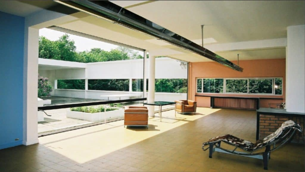 Le Corbusier, Villa Savoye, Interior.