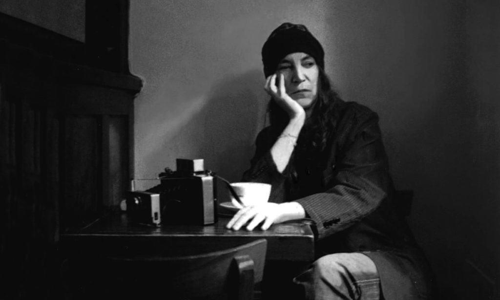 Patti Smith in Café Ino. Photo by Claire Hatfield