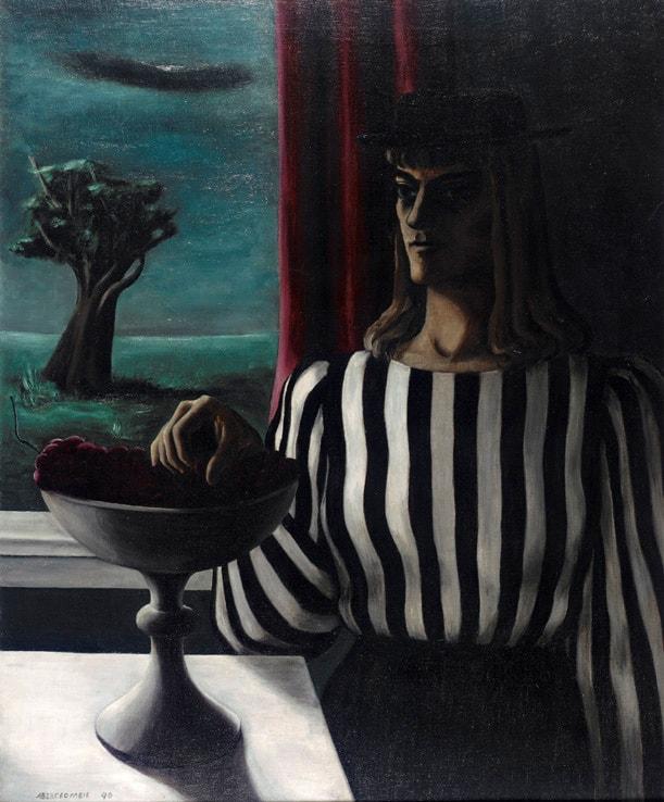 Gertrude Abercrombie, Self-Portrait, the Striped Blouse, 1940.