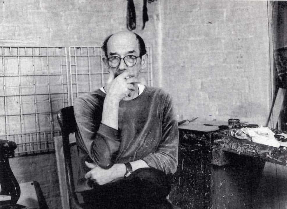 Euan Uglow in his studio
