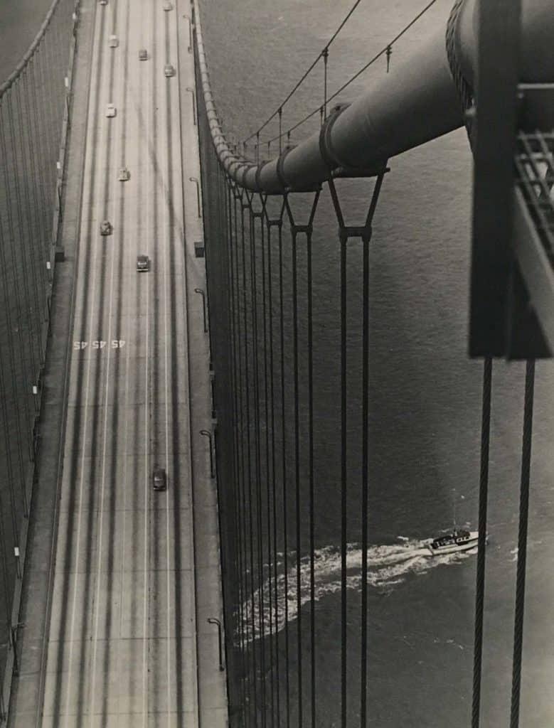 Umbo, Untitled (Golden Gate Bridge, San Francisco), 1952