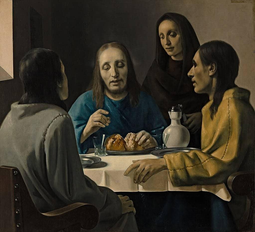Vermeer forgery by Han Van Meegeren - The Supper at Emmaus (1937)