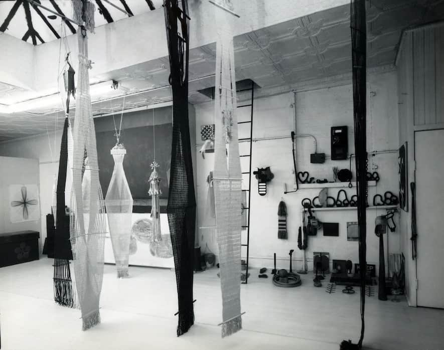 Lenore Tawney Beekman Street Studio, 1962
