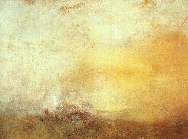 William Turner, Sunrise with sea-monsters, Tate Britain, London (c.1845).