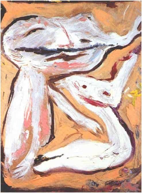 Untitled - Don Van Vliet painting - 1976