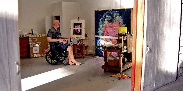 Detail from Chuck Close: Summer 2004, by Joe Fig