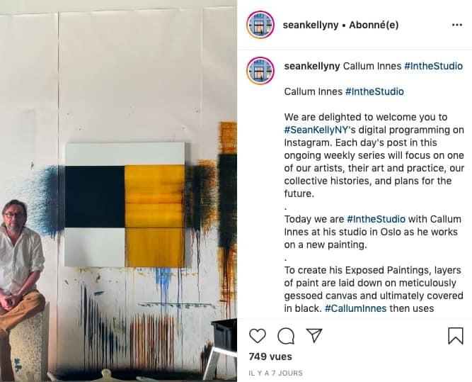 #IntheStudio with Callum Innes - Sean Kelly Gallery's initiative