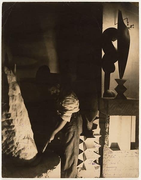 Constantin Brancusi's Self-Portrait in Studio, 1923