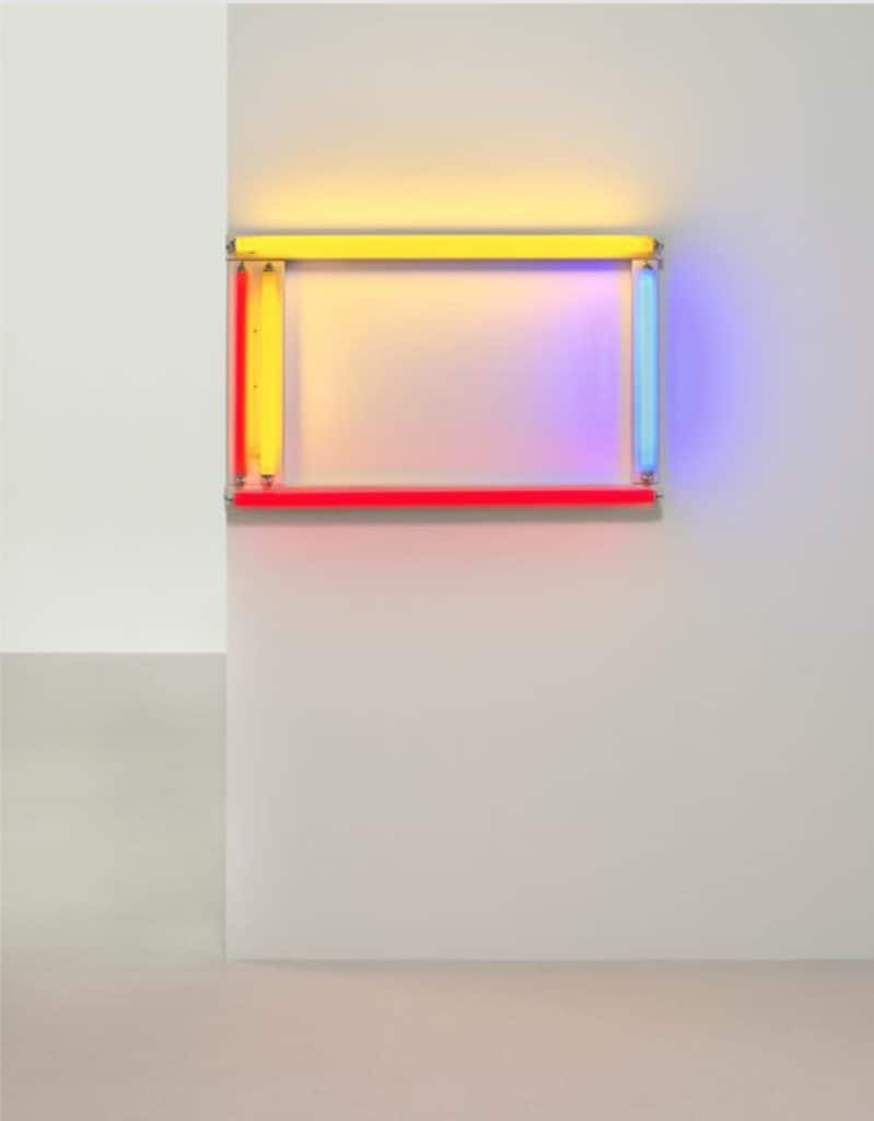 Dan Flavin - A Primary Picture - 1964. Red, yellow and blue fluorescent light.