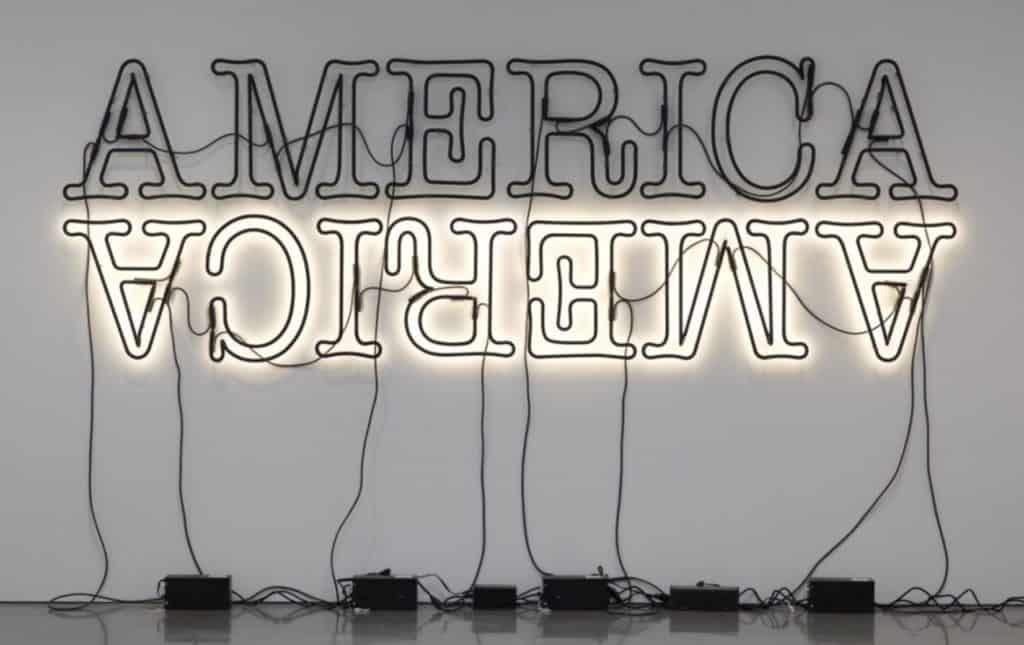 Glenn Ligon - Double America II - 2014