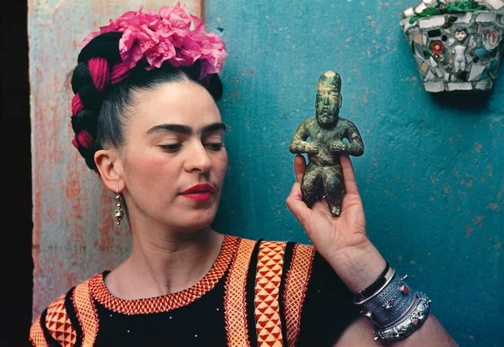 Frida with Olmeca Figure, 1939