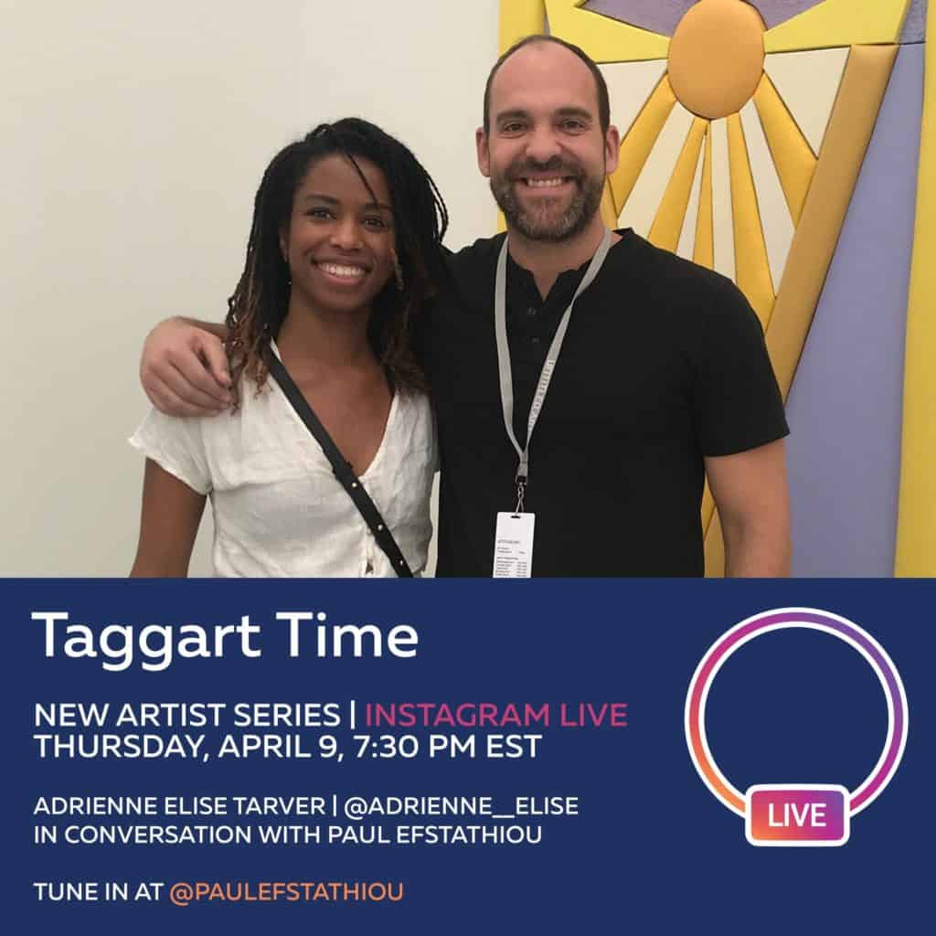 Paul Efstathiou & Adrienne Elise Tarver in Taggart Time - Instagram live series by Paul Efstathiou