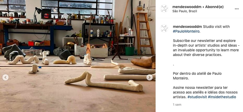Artist Paulo Monteiro's studio