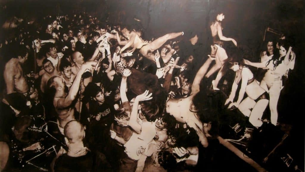 A punk crowd. Florian Süssmay - Untitled - 2008.