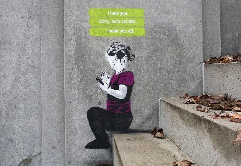 iHeart, I Hate You, graffiti.