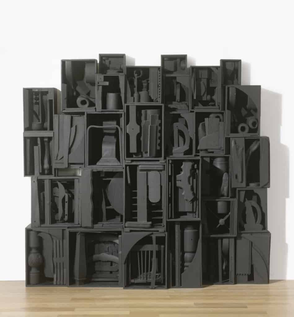 Louise Nevelson's sculpture - Sky Cathedral - 1958