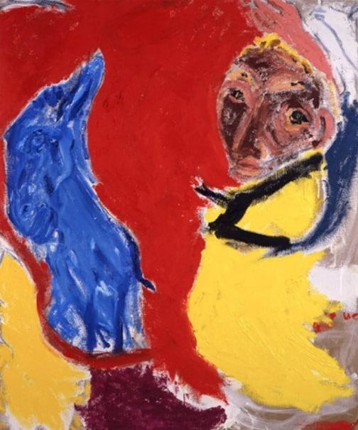 Rumfhala Horror Puppet - Don Van Vliet painting - 1986