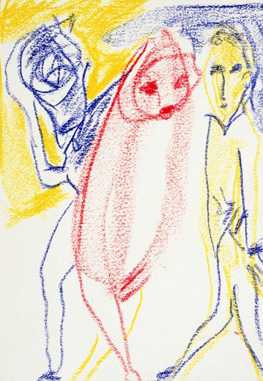 Untitled - Don Van Vliet drawing - 1985